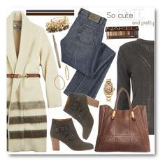 """""""Blanket Coat & Denim"""" by brendariley-1 ❤ liked on Polyvore featuring moda, Dorothy Perkins, Woolrich, Marc by Marc Jacobs, Mint Velvet, Valentino, Alex and Ani, Bony Levy, Urban Decay e COVERGIRL"""