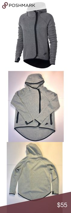 Nike Tech Fleece Womens Heather Grey Size Small excellent  condition, very stylish and sought after style, great deal. We always welcome offers:) Nike Tops Sweatshirts & Hoodies