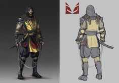 View an image titled 'Scorpion Concept Art' in our Mortal Kombat 11 art gallery featuring official character designs, concept art, and promo pictures. Armor Concept, Concept Art, Escorpion Mortal Kombat, Black Panther Art, Dnd Art, Type Pokemon, Game Character Design, Character Inspiration, Character Ideas
