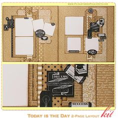"""""""Today is the Day"""" 2-Page Layout Kit, complete with instructions, by Paisleys and Polka Dots for a limited time at www.paisleysandpolkadots.com"""