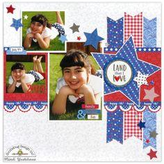 Doodlebug Yankee Doodle Scrapbook Layout by Mendi Yoshikawa - Scrapbook.com