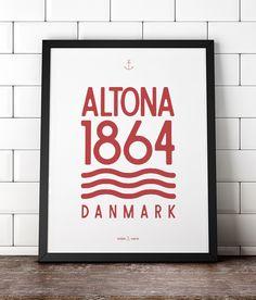Altona, Dänemark. graphic design poster from www.hjemhavn.dk