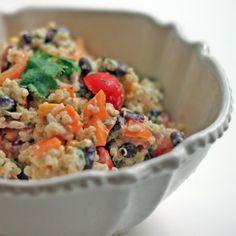 For a little bit of crunch, add blue corn tortilla chips to your salad. Citrus & Cilantro Quinoa Salad via Nutritionella