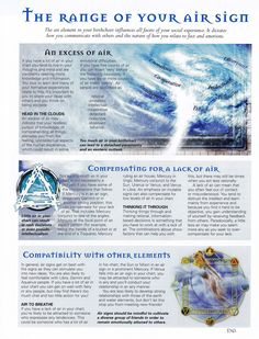 Elements Air:  The Range of Your #Air Sign.