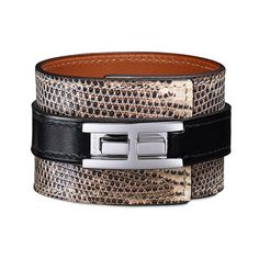 Hermès Leather Jewelry Hermès Black ($870) ❤ liked on Polyvore featuring jewelry, bracelets, leather bangles, leather jewelry, cuff bracelet, leather cuff bracelet and cuff bangle