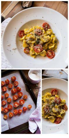 Pasta con porchetta pomodorini confit e tartufo Una bontà unica!