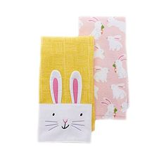 Easter 2-pack Kitchen Towels Big Bunny Face - Yellow/Pink Blossoms & Blooms http://www.amazon.com/dp/B00WAH5JN4/ref=cm_sw_r_pi_dp_0pvawb148K7TF