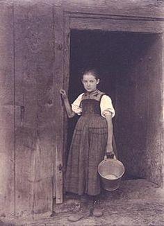 Black Forest Peasant Girl   by Alfred Stieglitz, 1894