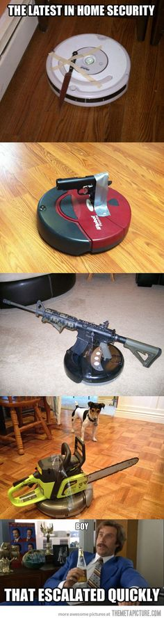 The very latest in home security…