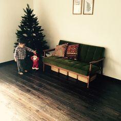 無印良品/キリムのクッション/カリモク60/クリスマスツリー/リビング…などのインテリア実例 - 2014-11-23 08:48:01 | RoomClip(ルームクリップ)