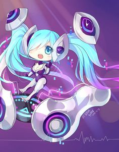 Chibi DJ Sona ~ :3 Made for She Twitter @LeyLolera many fan arts are hers sorry for my english im Spanish :(