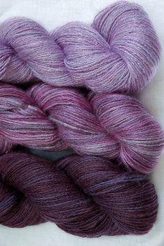 Bamboo Yarn Purple rain Organic Hand dyed Vegan Yarn by Klarabela