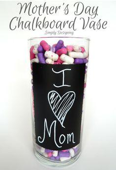 Mother's Day, Chalkboard Vase, #mothersday #mothersdayhoa #chalkboard
