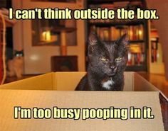Thinking outside the box can be challenging