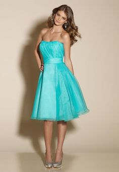 Organza. fun color. simple design. match style of wedding dress