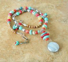Boho Necklace Turquoise Jewelry Southwest Jewelry by BohoStyleMe