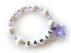 Custom Personalized Marine Starfish Purple&White by BestGifts4Kids
