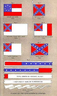 Confederate battle flags, Navel and Nation.