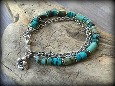 Turquoise Multi-Strand Sterling Silver by barbmallonjewelry