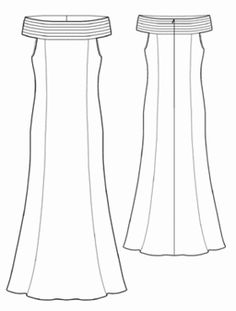 This one I think would be a good one to add that asymmetric train that wraps around the dress except for the front panel