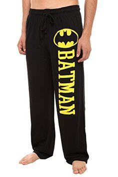 Comfy Pants, Pj Pants, Lounge Pants, Sleep Pants, Batman Outfits, Black Pajamas, Dc Comics, Sweatpants, Men Styles