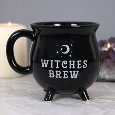 Witches Brew Mug This brilliant black mug is designed to look like a cauldron and features the words 'Witches Brew'. This brilliant black mug is designed to look like a cauldron and features the words 'Witches Brew'. Coffee Mug Quotes, Unique Coffee Mugs, Cool Mugs, Funny Coffee Mugs, Coffee Humor, Funny Mugs, Best Coffee, Coffee Gifts, Coffee To Go Becher