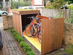 Bike Garage adding a lock and building one when I buy a house.