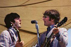 McCartney and Lennon Singing
