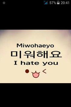 "[K-EDUCATION] LEARN KOREAN Learn how to write ""I hate you"" in Korean ~"