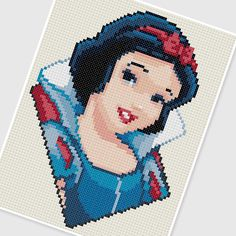 PDF Cross Stitch pattern 0288.Snow White by PDFcrossstitch on Etsy