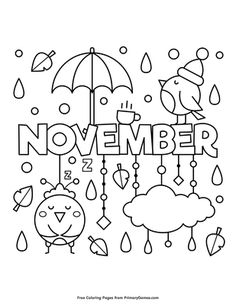 Free printable Fall coloring pages for use in your classroom or home from PrimaryGames. Free printable online Fall Coloring Pages eBook for use in your classroom or home from PrimaryGames. Print and color this November coloring page.