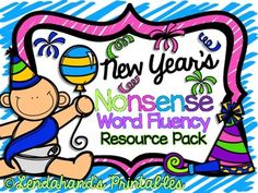 FREEBIE NWF New Year's Assessment!  Grades K-2 * From Michelle @ Lendahand's Printables http://lendahandsprintables.blogspot.com/2016/01/new-years-nonsense-word-fluency-resource.html
