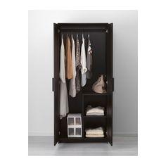 BRIMNES Garderobekast met 2 deuren IKEA Perfect voor opgevouwen kleding en lange en korte hangkleding.
