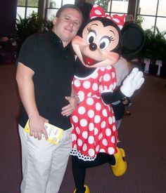 Jon in one of his favorite places -- the Magic Kingdom -- with Minnie!