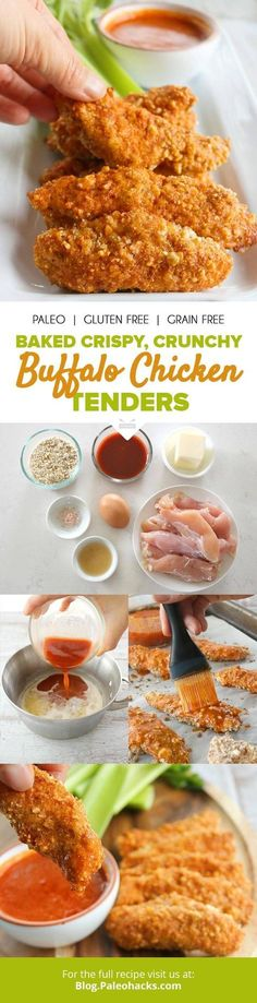 These juicy, tender, crunchy #chicken strips are everything. Get the recipe here: http://paleo.co/buffalochucktenders