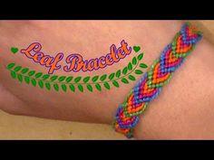 Friendship Bracelet: Leaf Bracelet for beginners- super easy - YouTube