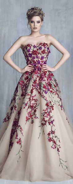 Tony Chaaya Haute Couture 2016 Collection - Evening Dress 1