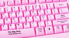 Keyboards for Blondes, makes life that much easier.