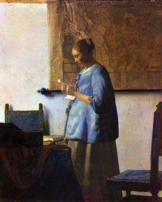 Woman in Blue reading a letter-Vermeer, Rijksmuseum, Amsterdam