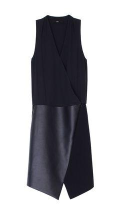 Style - Minimal + Classic : Tibi - Leather Asymmetrical Wrap Dress
