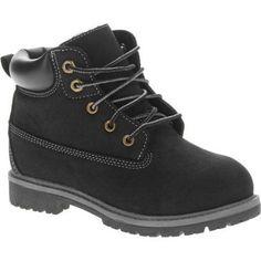 Faded Glory Boys Tucker Boot, Size: 5, Black