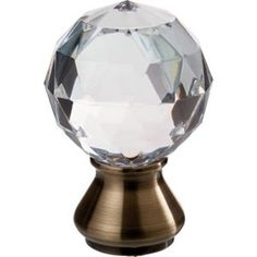 Harrison Drape Antique Brass 28mm Crystal Finial