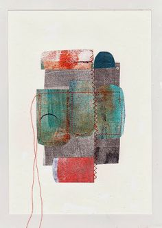 So now i can add to those gelli plate printed collages Helping them along... Building on what's there...Dudley Redhead: Gelli plate printing post no.8