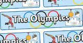The Olympics Display Banner - Olympics, Olympic Games, sports, Olympic, London, 2012, display, banner, poster, sign, Olympic torch, flag, countries, medal, Olympic Rings, mascots, flame, compete, tennis, athlete, swimming, race,