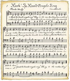 Free printable sheet music WITH A VINTAGE LOOK ~ this could come in handy for decor & crafts!