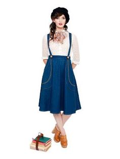 Victory Patterns - vintage inspired high waisted flared skirt