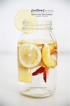 ... lemon peach infused water ...