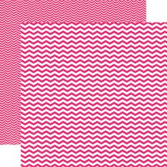 Echo Park - Pretty in Pink Collection - 12 x 12 Double Sided Paper - Pink Chevron at Scrapbook.com $0.89