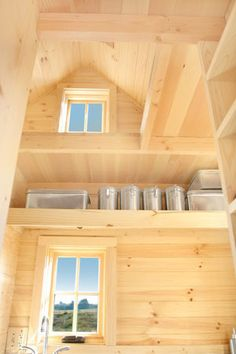 """Weebee Plans   Tumbleweed Tiny House Company ~ love the idea of going """"up"""" for storage. - To connect with us, and our community of people from Australia and around the world, learning how to live large in small places, visit us at www.Facebook.com/TinyHousesAustralia"""
