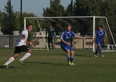 LA Misioneros midfielder Chris Smith asking for the through ball sent into space as the Misioneros defeat the USL PRO club Sacramento Republic on June 22, 2014.